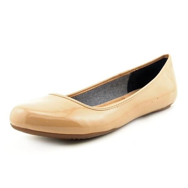 Dr. Scholl's Friendly Women Round Toe Synthetic Nude Flats