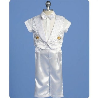Angels Garment Baby Boys White Pants Set Christening Outfit 3-24M