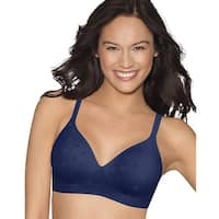 Hanes Perfect Coverage ComfortFlex Fit® Wirefree Bra - Size - L - Color - In The Navy - Blue