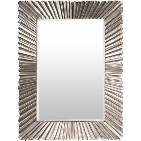 "Citra Silver Gilded Framed 36"" x 49"" Beveled Wall Mirror - 36.2"" x 48.8"""