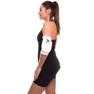 Adjustable Elbow Brace Support Elastic Wrap Pain Relief Pad Protector WRP2 - White
