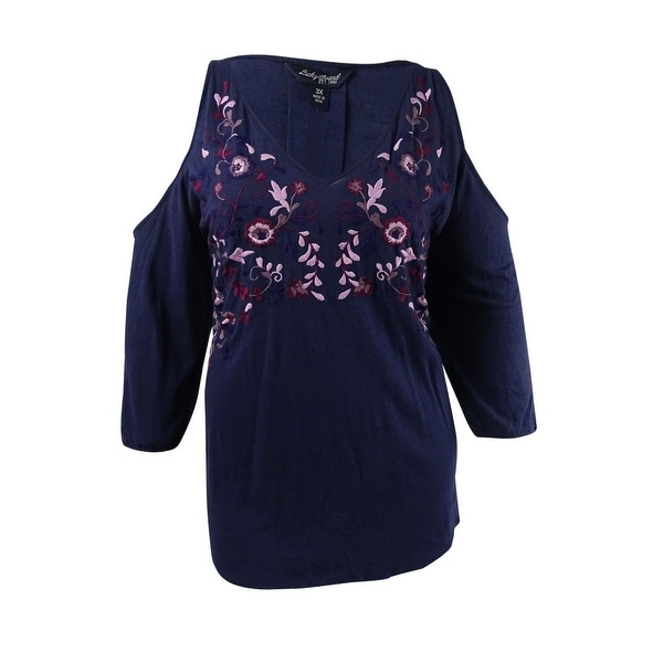 db94ed4f5265b Shop Lucky Brand Women s Trendy Plus Size Embroidered Top (3X