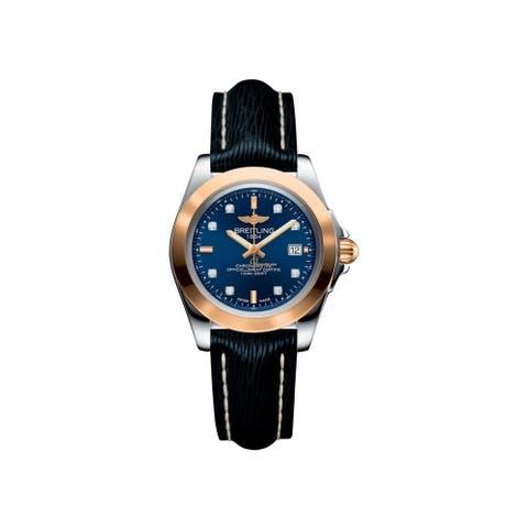 Breitling Women's C7133012-C952-123Z 'Galactic 32 Sleek' Black Leather Watch - Blue
