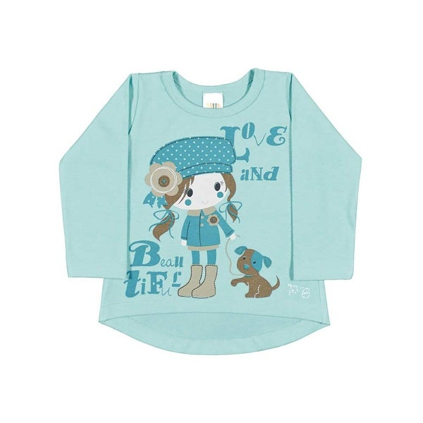 Baby Girl Long Sleeve Shirt Graphic Tee Newborn Infant Pulla Bulla 3-12 months