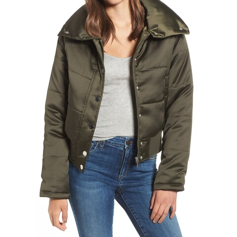 Maralyn & Me Women's Small Cropped Puffer Jacket