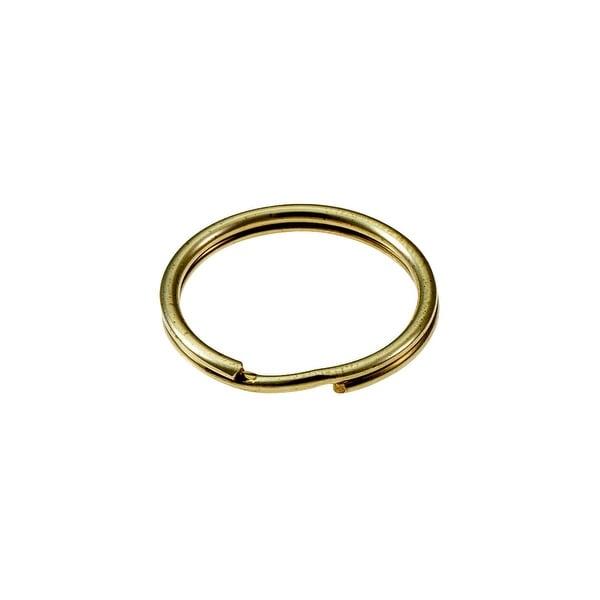 "Lucky Line 2Pk 7/8"" Brass Key Ring"