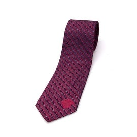 Versace Men Slim Silk Neck Tie B0716 Red Black