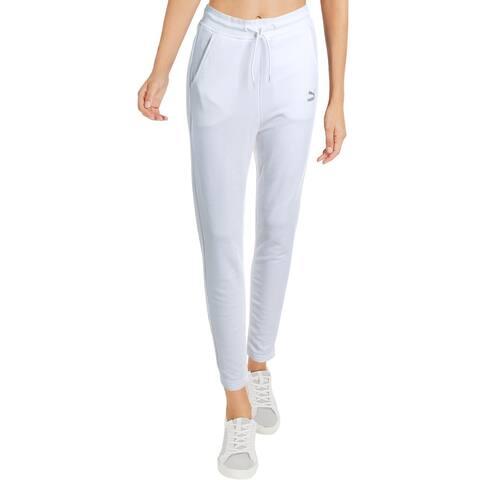 Puma Womens Athletic Pants Running Fitness - Puma White