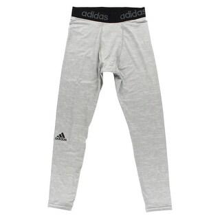 Adidas Mens Techfit Long Training Tights Light Grey - light grey/black - XxL