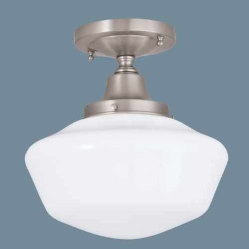 Norwell Lighting 5361 1 Light Semi-Flush Ceiling Fixture from the Schoolhouse Collection