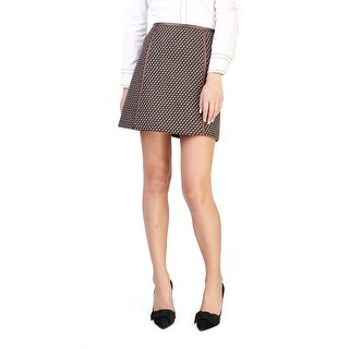 Prada Women's Virgin Wool Tweed Skirt Brown