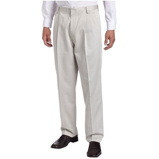 Dockers Premium Big and Tall Relaxed Fit Pleated Chinos Pants Stone 42 x 30