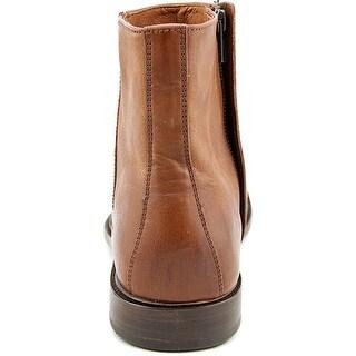 Frye Chris Inside Zip Men Round Toe Leather Brown Boot