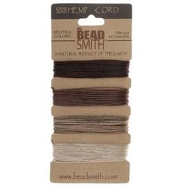 Beadsmith Natural Hemp Twine Bead Cord 0.55mm Four Color Variety 42 Feet Each