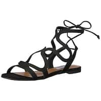 Steve Madden Womens Cece Leather Open Toe Casual Gladiator Sandals