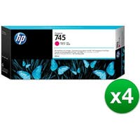 HP 745 300-ml DesignJet Magenta Ink Cartridge (F9K01A)(4-Pack)