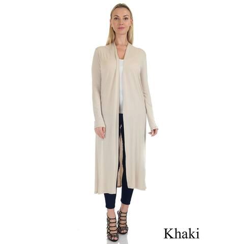 Simply Ravishing Women's Long Sleeve Floor Length Open Cardigan (Size: S-5X)