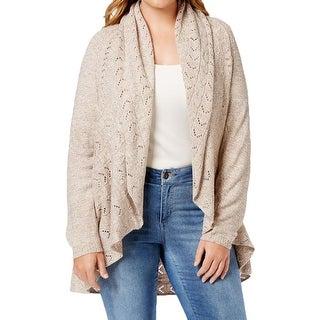 Karen Scott Womens Plus Cardigan Sweater Knit Marled