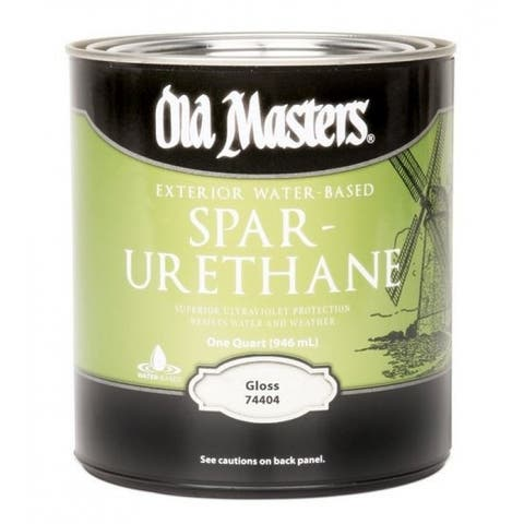 Old Masters 74404 Exterior Water-Base Polyurethane, Gloss Finish, Quart