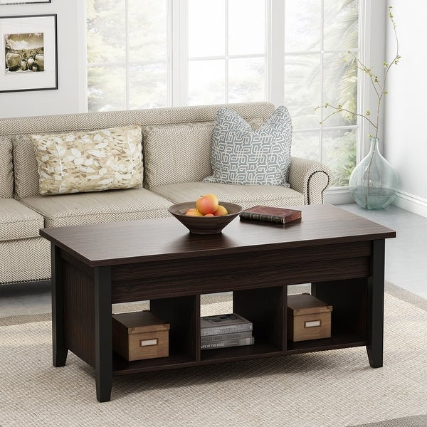 shop lift top coffee table with hidden storage compartment