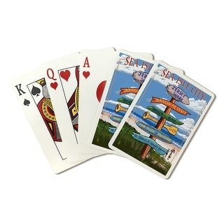 Sea Isle City, NJ - Dest Sign - LP Artwork (Poker Playing Cards Deck)