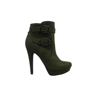 G by Guess Womens Dalli2 Almond Toe Ankle Fashion Boots