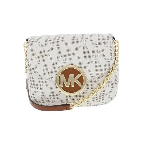 0b3d433e0696 MICHAEL Michael Kors Womens Fulton Crossbody Handbag Faux Leather Signature  - small