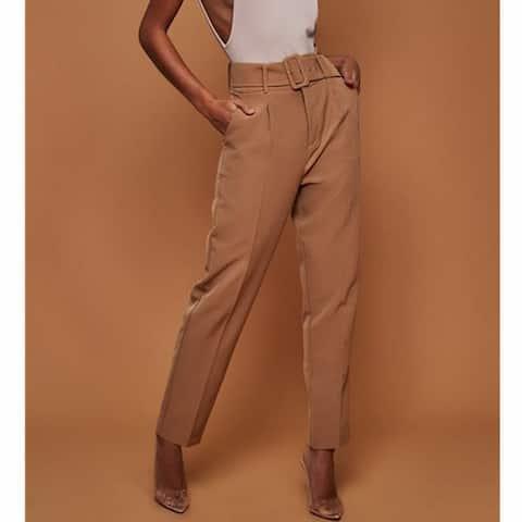 New Ladies Casual Pants High Waist Solid Color Nine Pants