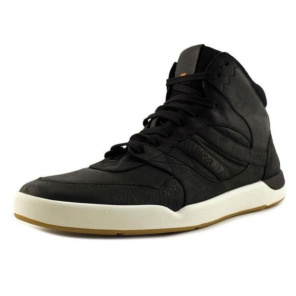 78b9e8ef7a32cf Boss Hugo Boss Stillnes High Top Men Leather Black Fashion Sneakers