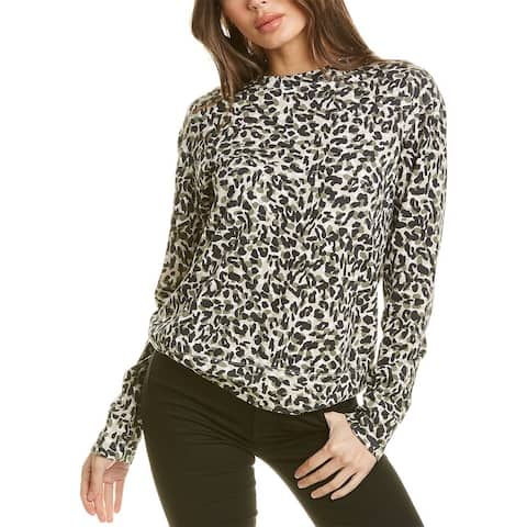 Monrow Animal-Print Boyfriend Sweater
