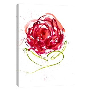 """PTM Images 9-108873  PTM Canvas Collection 10"""" x 8"""" - """"Aqua Rose"""" Giclee Flowers Art Print on Canvas"""