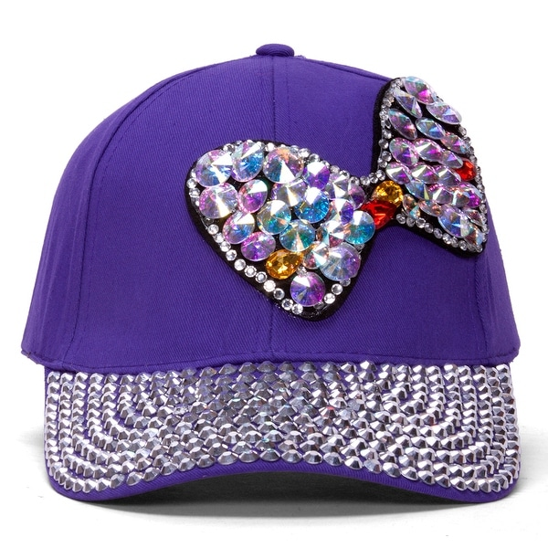 Shop Womens Sequined Baseball Cap w  Bow - Free Shipping On Orders ... 1eeb8738cfc6