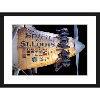 Marmont Hill Spirit of St. Louis - Black Framed Art Print Smithsonian Black Framed Giclee Art Print on High Resolution Archive