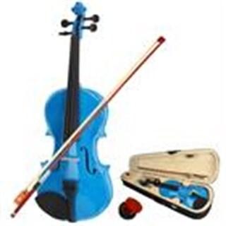 New 4/4 Acoustic Violin Case Bow Rosin Dark Blue