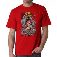 Red Sonja Cover Battle Men's Red T-shirt