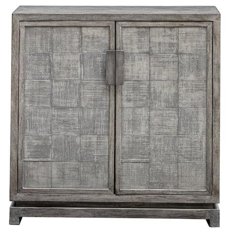 Uttermost Hamadi Distressed Grey 2-door Cabinet