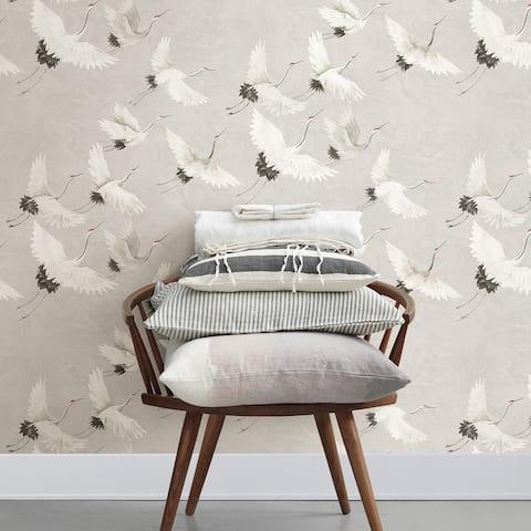 Ferndale, Windsong Crane, 33 FT. L x 20.5In. W Wallpaper Roll