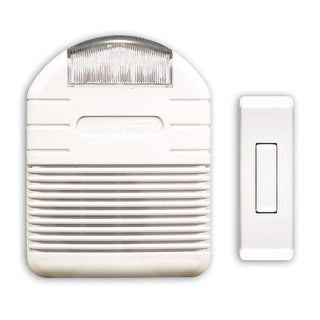 Heath Zenith SL-6144-A Wireless Plug-In Doorbell Chime Kit with Flashing Light, Perfect For Hearing Impaired