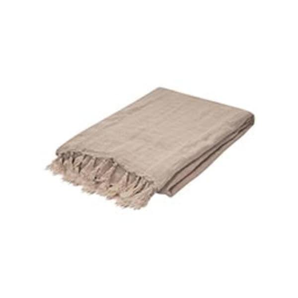 """Natural Linen Throw - MAU04 51""""x67"""""""