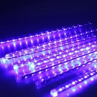 AGPtek 8 50cm 240LED Colorful Tube Meteor Shower Rain Lights Snowfall Light for Wedding Party Decoration