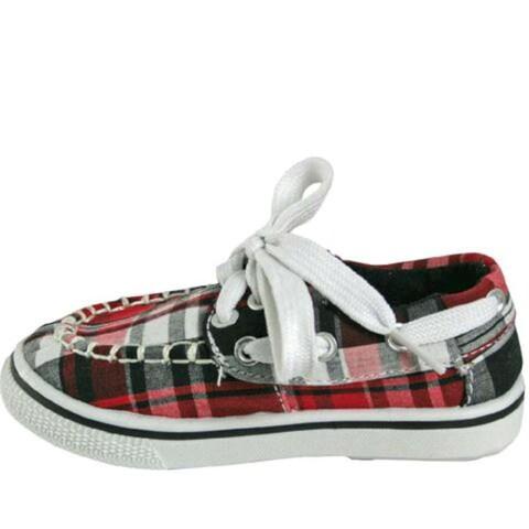 DAWGS Boys kaymann boat shoe Canvas Slip On Boat Shoes
