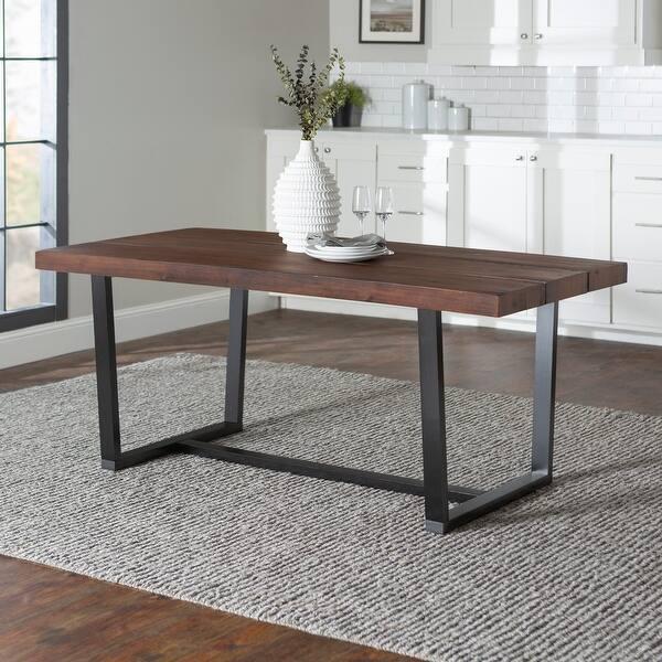 Dining Table Dining Table Dining Table U-Shape Frame 140x90 cm Graphite Graphite New