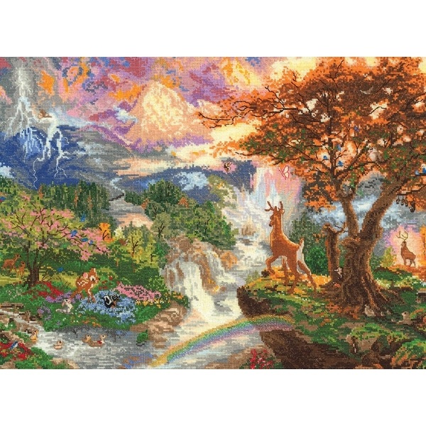 "Disney Dreams Collection By Thomas Kinkade Bambi's 1st Year-16""X12"" 18 Count"