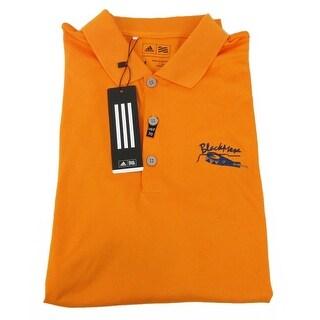 Adidas Proformance Orange Medium SS T-Shirt Embrodered Logo Polo