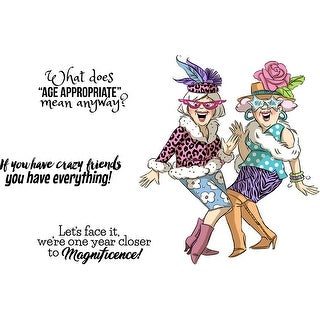 Art Impressions Girlfriends Cling Rubber Stamps -Crazy Friends