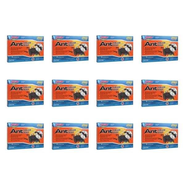 Pic Plasbon Plastic Ant-Killing Systems (12 Packs Of 12)