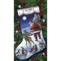 "Santa's Arrival Stocking Counted Cross Stitch Kit-16"" Long 14 Count"