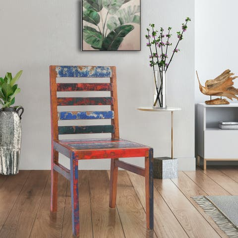 Chic Teak Marina Del Rey Dining Chair made from Recycled Teak Wood Boats