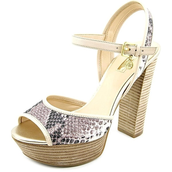 Guess Pursey 3 Open Toe Leather Platform Heel