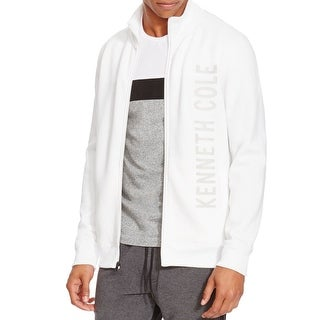 Kenneth Cole NEW White Mens Size Large L Full Zip Logo Track Jacket